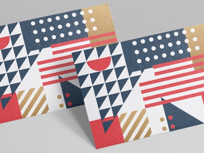 American Pattern business card card texture gold national iconography symbol star stripe flag usa pattern geometry geometric