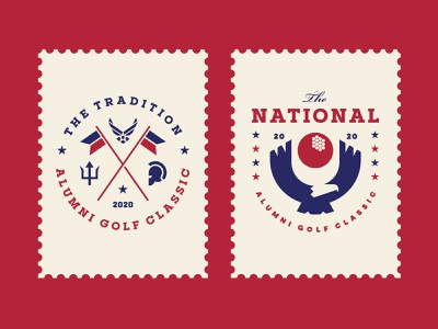 AGC Events 05 tournament star outdoor event emblem crest symbol military flag national eagle bird ball animal golf sports stamp logo