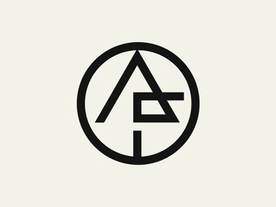 AF Apparel laundry symbol arrow monoline line fashion wear apparel streetwear rounded circle initials monogram logo