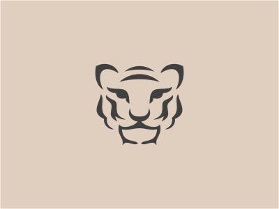 Tigress logo animal head tiger tigress cat gray eyes wild