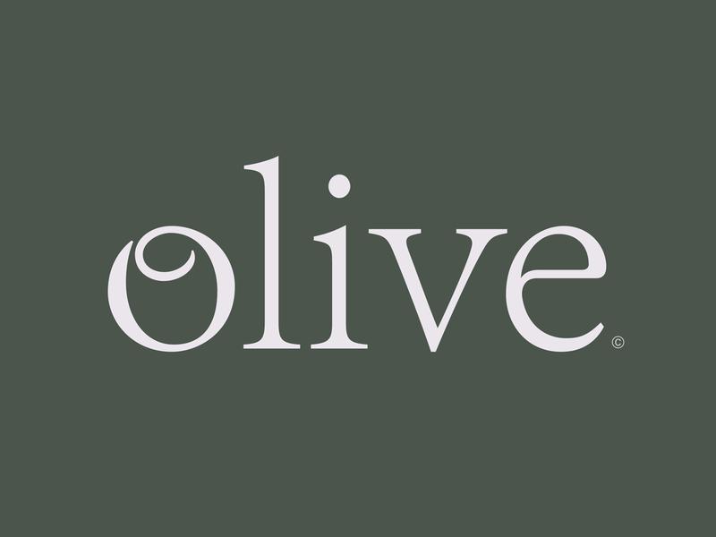 Olive Oil elegant negative organic green nutrition health food nature oil olive lettering typography logotype logo