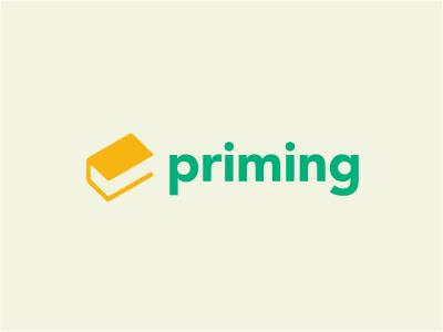 Priming logo education book check evaluation school yellow green negative university