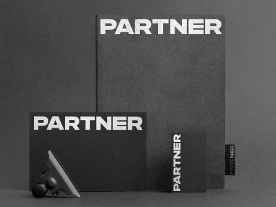 Partner support trust bold black agency branding partner lettering typography custom logotype logo
