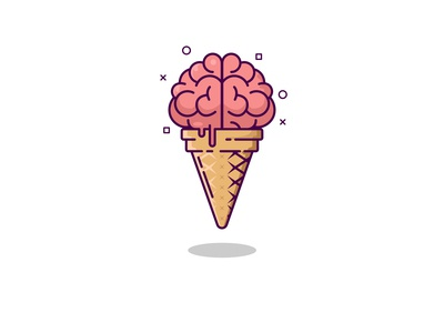 brain ice cream design