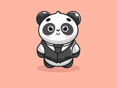 mr cute panda black