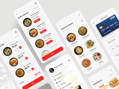 Food Ordering & Delivery UI Kit food delivery app delivery app food ordering food app ios app uiux mobile ui design ux