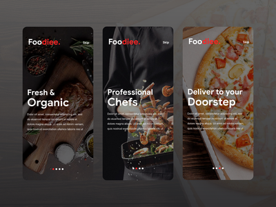 Food Ordering & Delivery UI Kit foodie food delivery app food ordering delivery app food app uiux mobile app ui ux