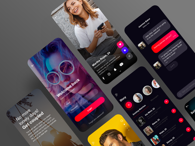 Dating Application UI Kit ios minimal app mobile uiux ceffectz design ui ux