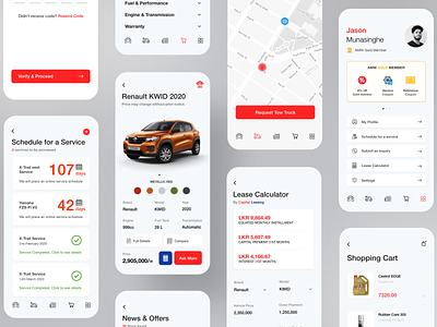 Auto Mobile Self Care App mobile ui mobile app design mobile app ux ui