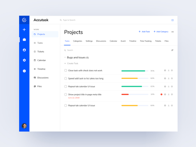 Accutask Dashboard - Projects task app clean webdesign uiux app ceffectz design web task manager task dashboard design dashboard ui ux