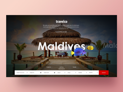 Travelco Website Redesigning tourism web site design travel home page landing page web site web ceffectz design ui ux