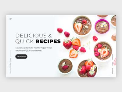 Food Recipe Website recipe app food app webdesign dashboard uiux minimal web ceffectz design ui ux