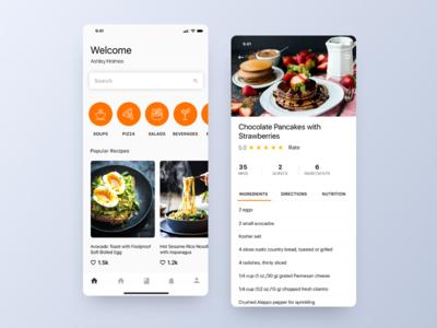 Food Recipe App design ceffectz ios uiux ux ui mobile recipe app food app app