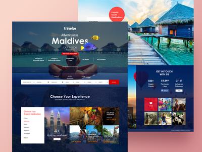 Travel Website Redesigning home page travel uiux landing page web design web ceffectz design ui ux