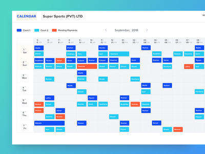 Booking App task schedule booking webdesign dashboard uiux web app ui ux