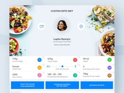 Keto Diet App Web food diet fittness minimal mobile app webdesign dashboard uiux web design ui ux