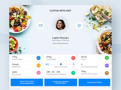 Keto Diet App Web food diet fittness minimal mobile app webdesign dashboard uiux web design ui ux