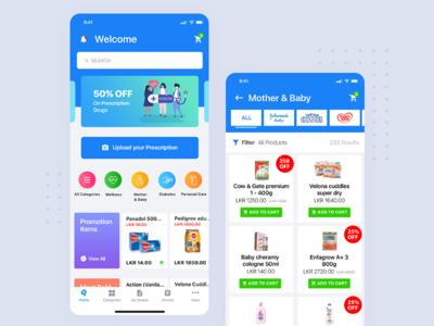 Pharmacy App design ceffectz pharmacy minimal ios mobile app uiux ui ux