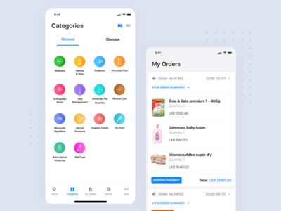 Pharmacy App ecommerce pharmacy ceffectz ios uiux mobile design ui ux app