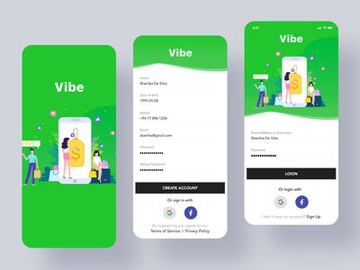 Login & Create Account UI minimal ecommerce register create account sign up app mobile uiux ui ux