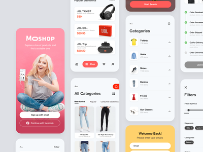 More Shop - UI Kit shopping cart ecommerce app minimal uiux mobile app ceffectz design ui ux