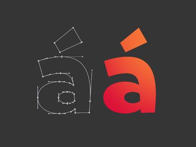 Comicfont in progress gradient color graphic fonts typo typenerd design typedesign vector typography type