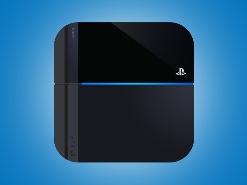 Playstation App PS4 Icon app application iphone ipad blue playstation ps4 console gaming playstation 4 flat