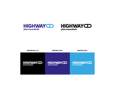 Highway Pharmaceuticals [Faux Logo N.º 2] typography pantone color branding logo faux