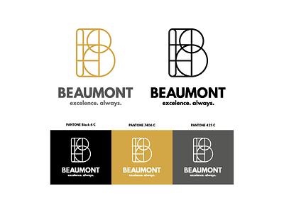 Beaumont [Faux Logo N.º 3] typography pantone color branding logo faux