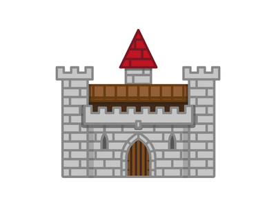 Castle Far Far Away castle fairytale vector flat illustration