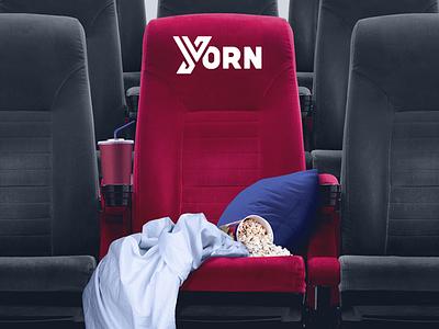 YORN // Personal Movie Seat movie cinema pop corn pillow blanket chair red photoshop photo manipulation