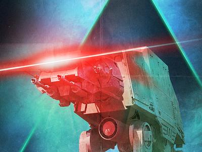 AT-AT Attack (WIP) poster starwarsday starwars star wars day wars star movie glow 80s