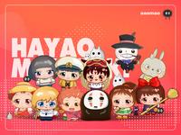 Miyazaki Hayao Film Characters Series