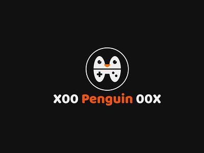 Logo Design for X00 Penguin 00X flat cartoon cartoon character character round logo gaminglogo gaming black gamepad icon illustration vector penguin logo design logo characterdesign logotype