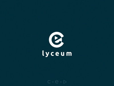 Logo design for Lyceum CE blue and white play button letters online school school video branding design logotype logo design logo lyceum