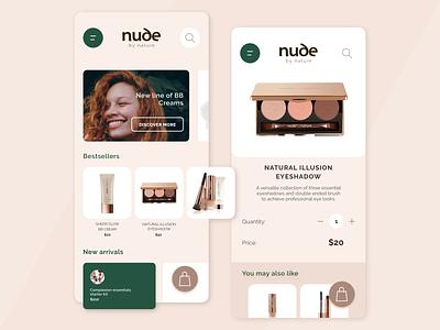 Cosmetic App simple simple design app green cosmetic beige minimalist design minimalism