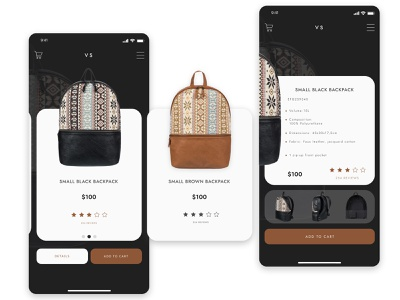 Bacpacks Store in PWA technology backpack backpacks accessories design product card product page ecommerce design pwa progressive web application ecommerce divante