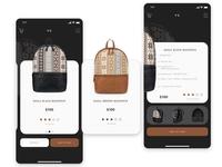 Bacpacks Store in PWA technology
