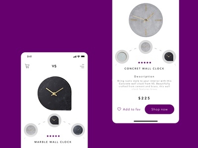 Concept for store with clocks in PWA technology