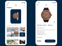 Online shop with watches in PWA techology