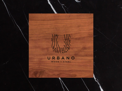 Urbano - Wood & Steel Furniture Company Logo brand marble wood design identity branding logo