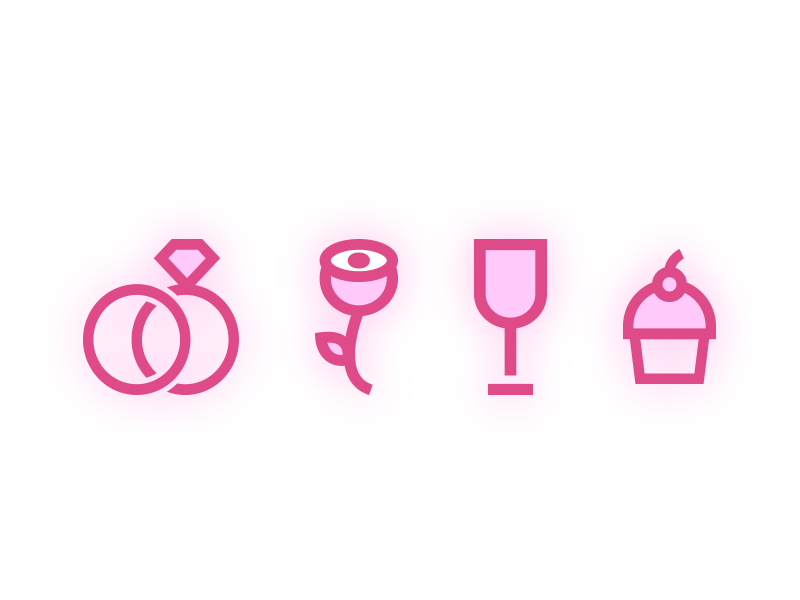 Wedding Icons brand illustration design icons wedding