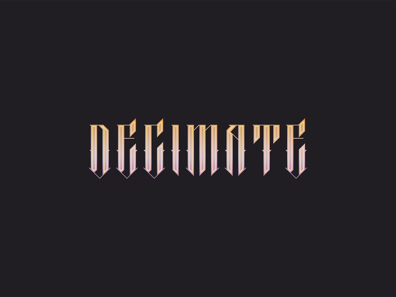 Decimate typography branding logo