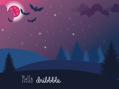 Hello Dribble illustration