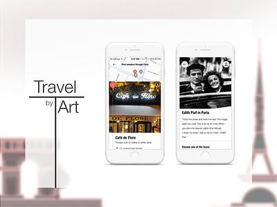 Travel by Art mobile app art travel app travel