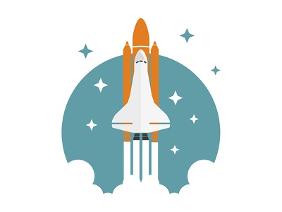 SpaceShuttle illustration illsutrator nasa rocket shuttle space shuttle vector