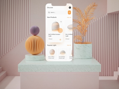 Luxury lighting app ux design prototype interaction 3d ecommerce shop lighting luxury ecommerce ux after effect xd design design branding app application interaction design app promo motion ui design motion ui