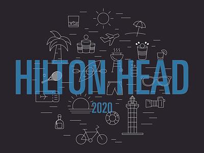 Hilton Head Shirt illustration icons shirt hilton head
