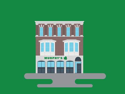 Murphy's Pub Marquette University building vector building illustration illustration