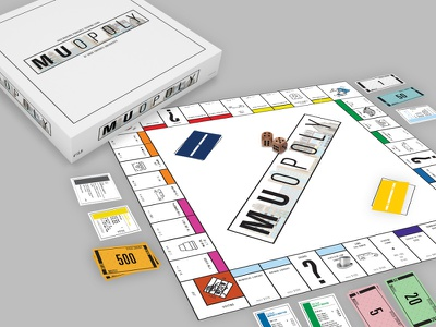 MUopoly game illustration marquette university art vector board game